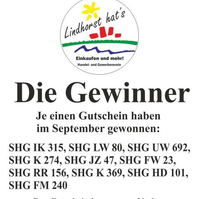Gewinner der Autoaufkleberaktion im September